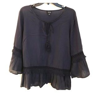 a.n.a women's blouse with bell flutter sleeves